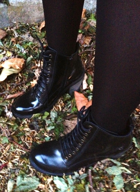 office heeled boots