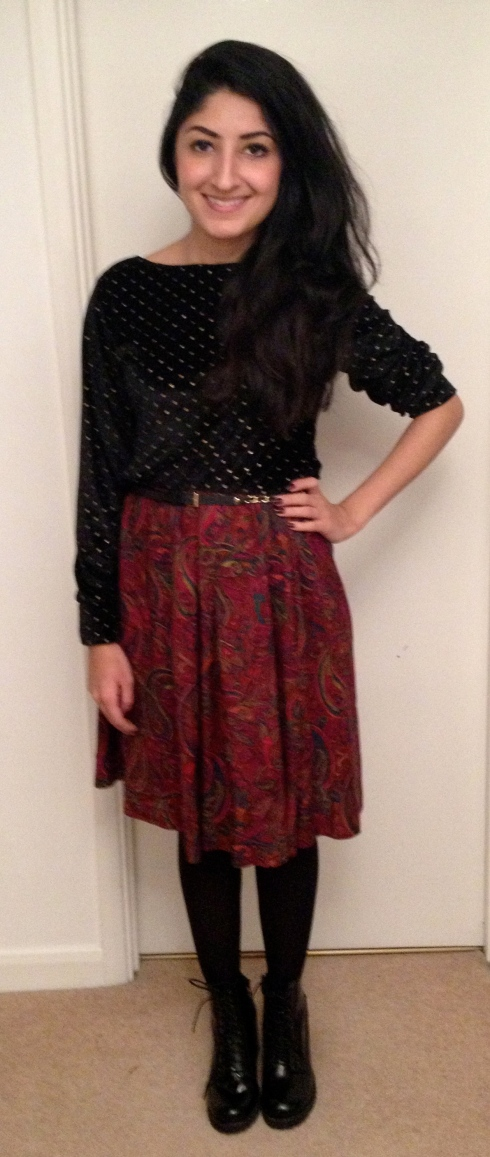 polka dot paisley dress